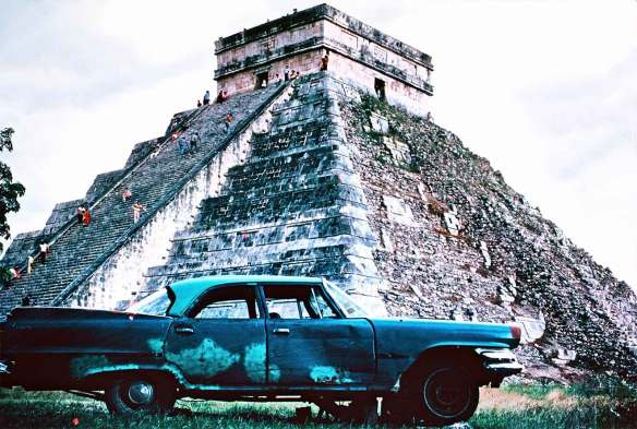 Dec 21 Tara Greene at Chichen Itza Mexico Pyramid original photo