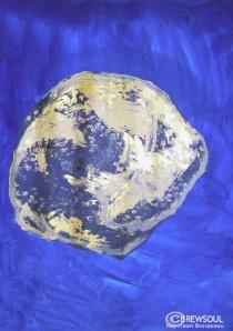 asteroid space art Napoleon Brousseau