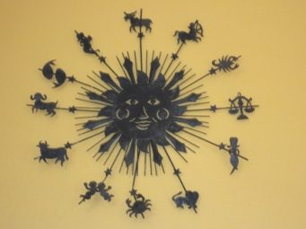 Astrology clock, wheel of Time, Tara Greene