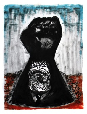 Napoleon Bousseau charcoal Angel Gallery Toronto