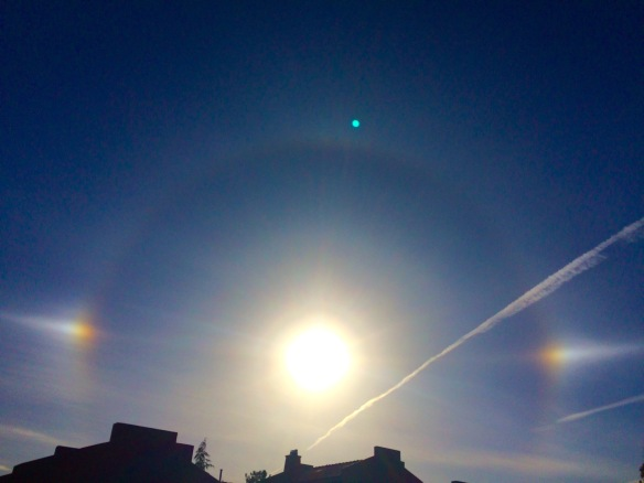 Sun dog in Sedona  photo by Tara Greene