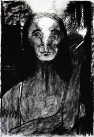 Old smoking Crone woman Napoleon Brousseau