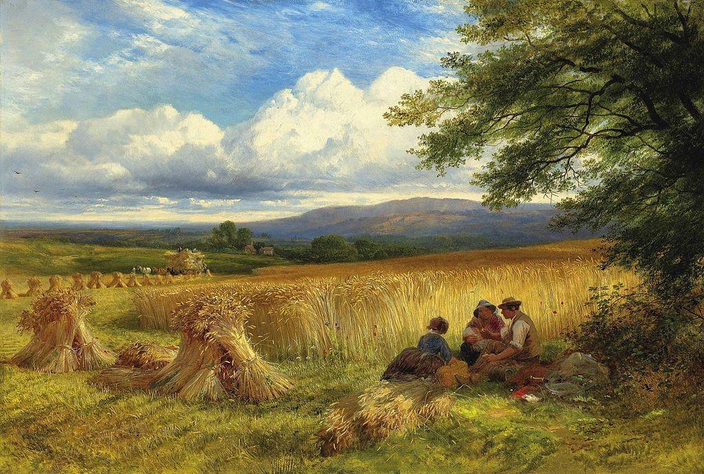 George Cole (1810-1883) [Public domain] Harvest rest