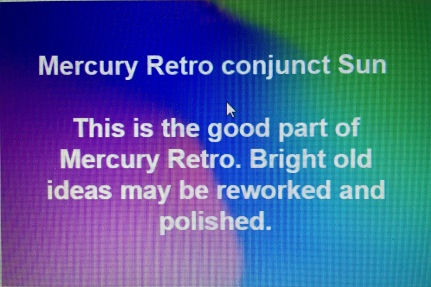 Mercury Retrograde conjunct Sun Astrology Tara Greene