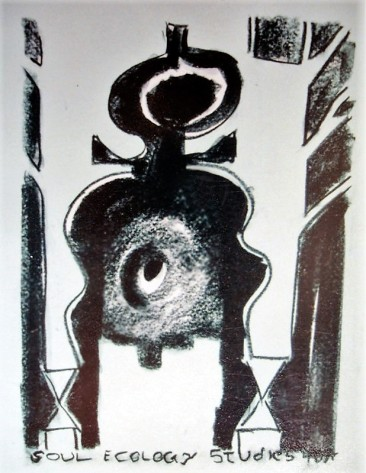 soul ecology study 1998 Charcoal on Arches paper Napoleon Brousseau