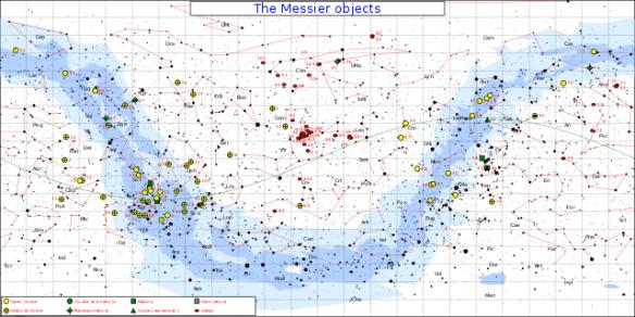 Messier Star Chart, tara Greene Astrology Rare triple conjunction in 1781