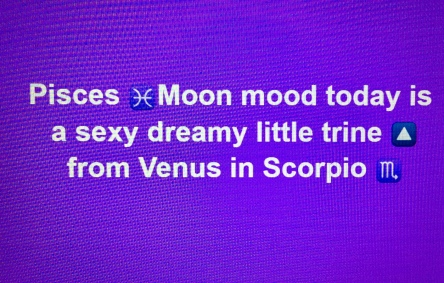 Pisces moon trines venus in Scorpio tara Greene
