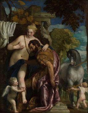 Mars and Venus United by Cupid Paolo Veronese 1570's Public domain