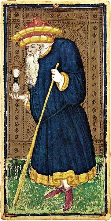 The Hermit Visconti-Sforza Tarot