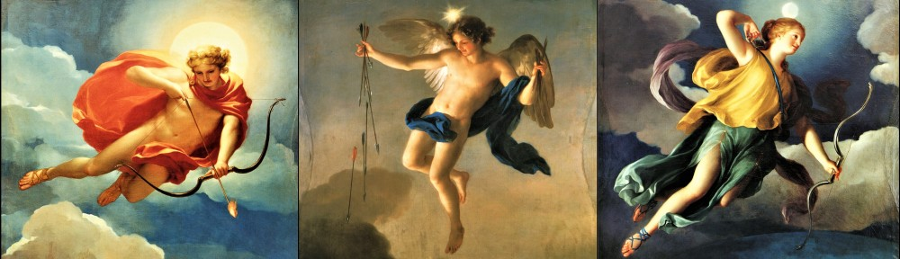 Helios personified at 3 times of day Anton Raphael Mengs [Public domain]