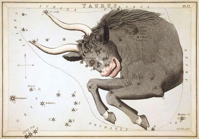 Sidney Hall -Urania's Mirror Taurus public domain