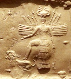 Ishtar on Akkadian Seal Venus Retrograde