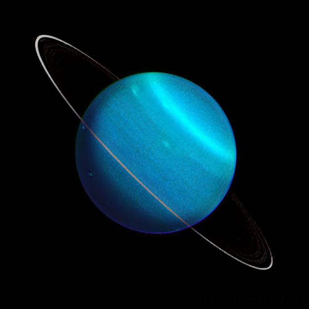 Uranus Pablo Carlos Budassi, CC BY-SA 4.0 , via Wikimedia Commons